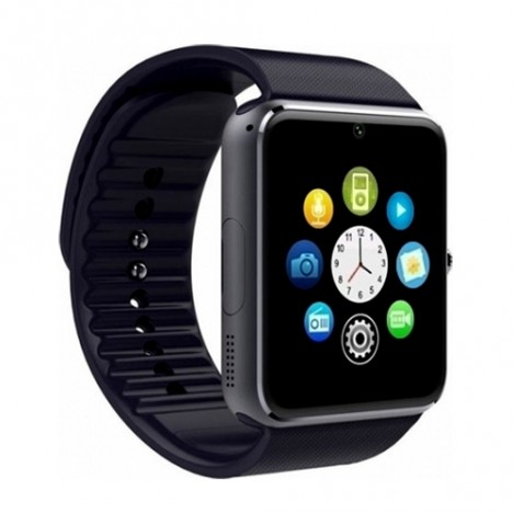gt08 smartwatch με υποδοχή sim και κάμερα μαύρο