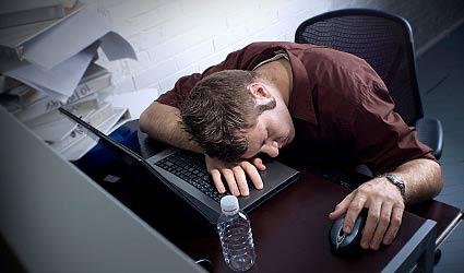 sleeping at computer blog