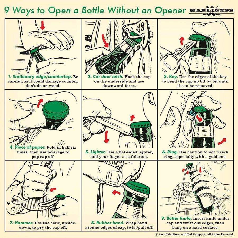 9 Ways Open a Bottle 1