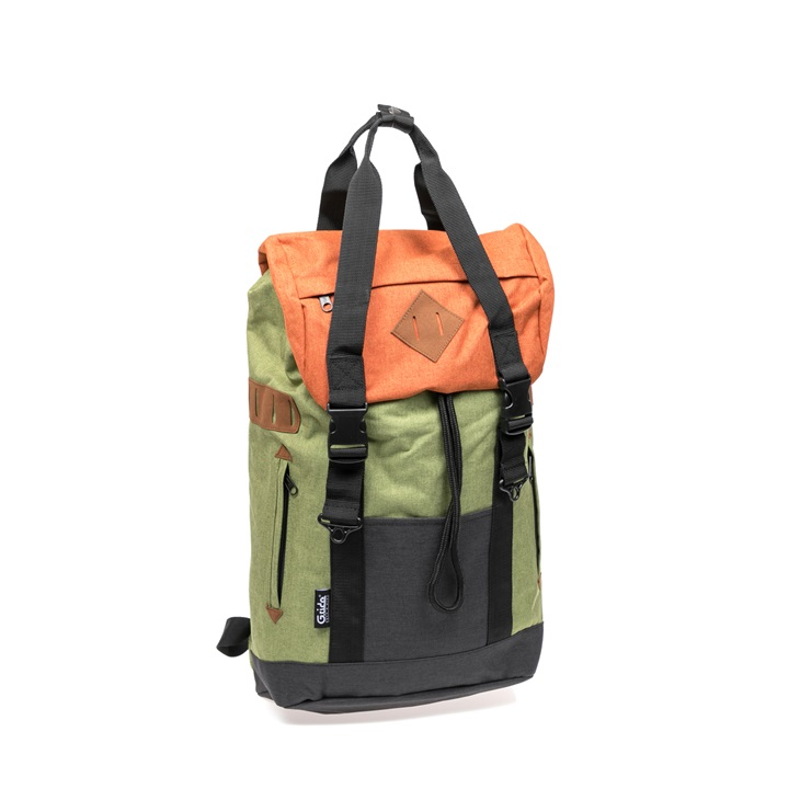 1528945.0 o361 1 g.ride τσάντα πλάτης g.ride λαδί πορτοκαλί 730x730