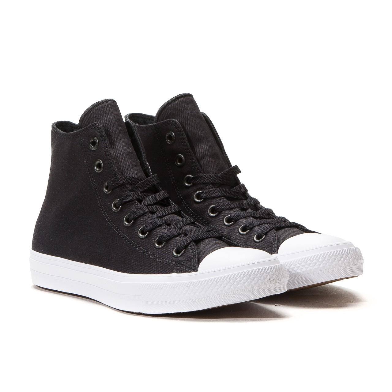 converse chuck taylor ii hi black white 2 1