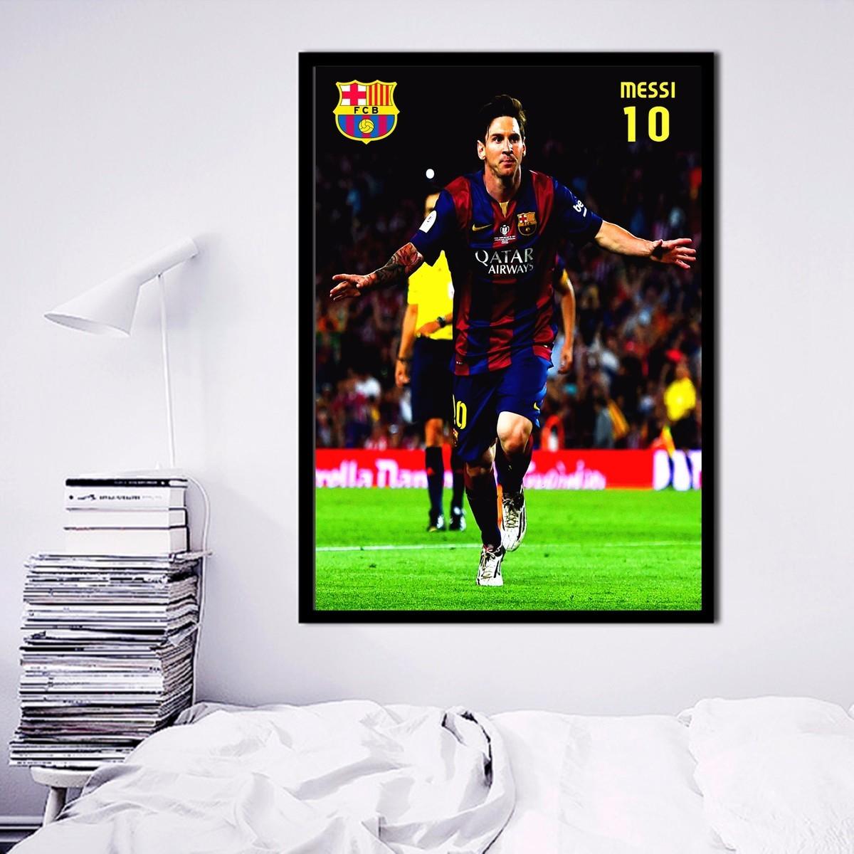 font b Messi b font 10 Soccer Canvas Art Print Painting font b Poster b