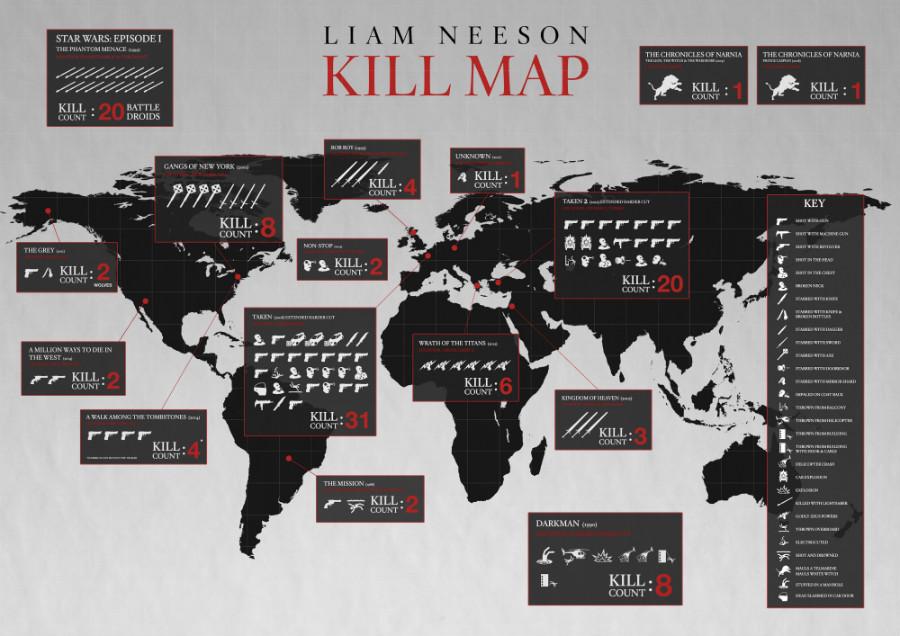 liam neeson kill map