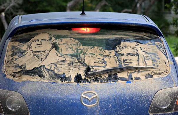 Dirty Car Rushmore