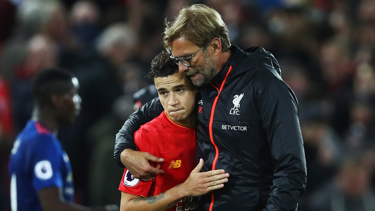 skysports klopp coutinho premier league liverpool transfer staying 3833801
