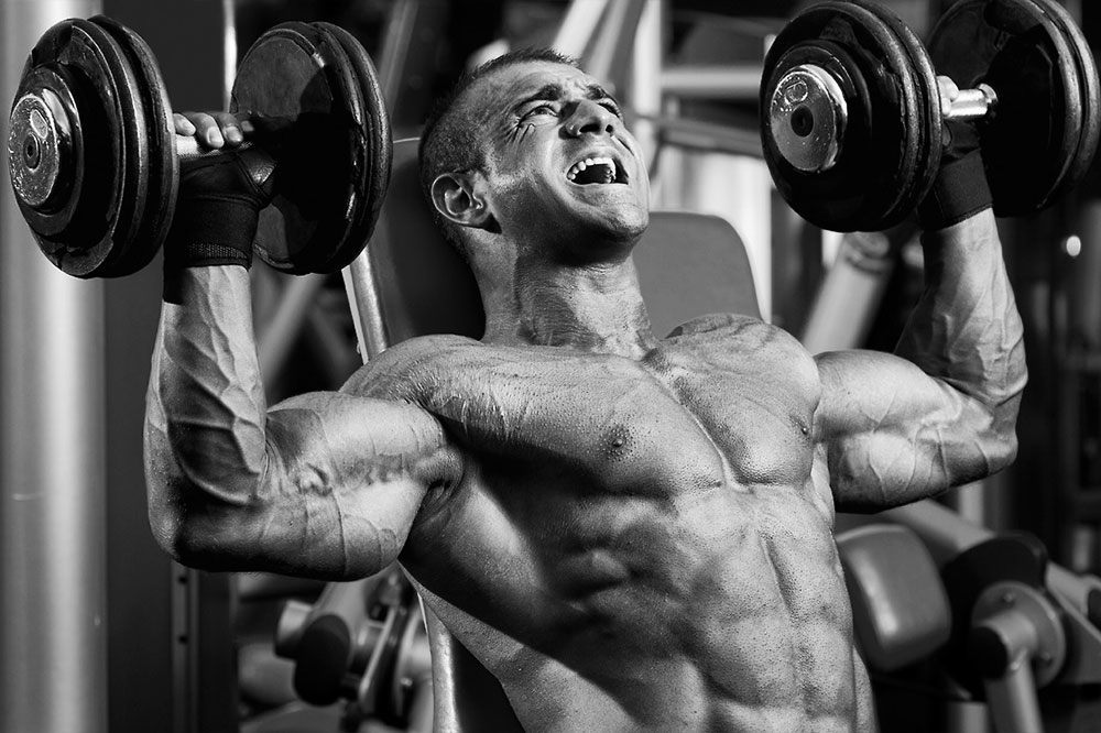 ripped man working out