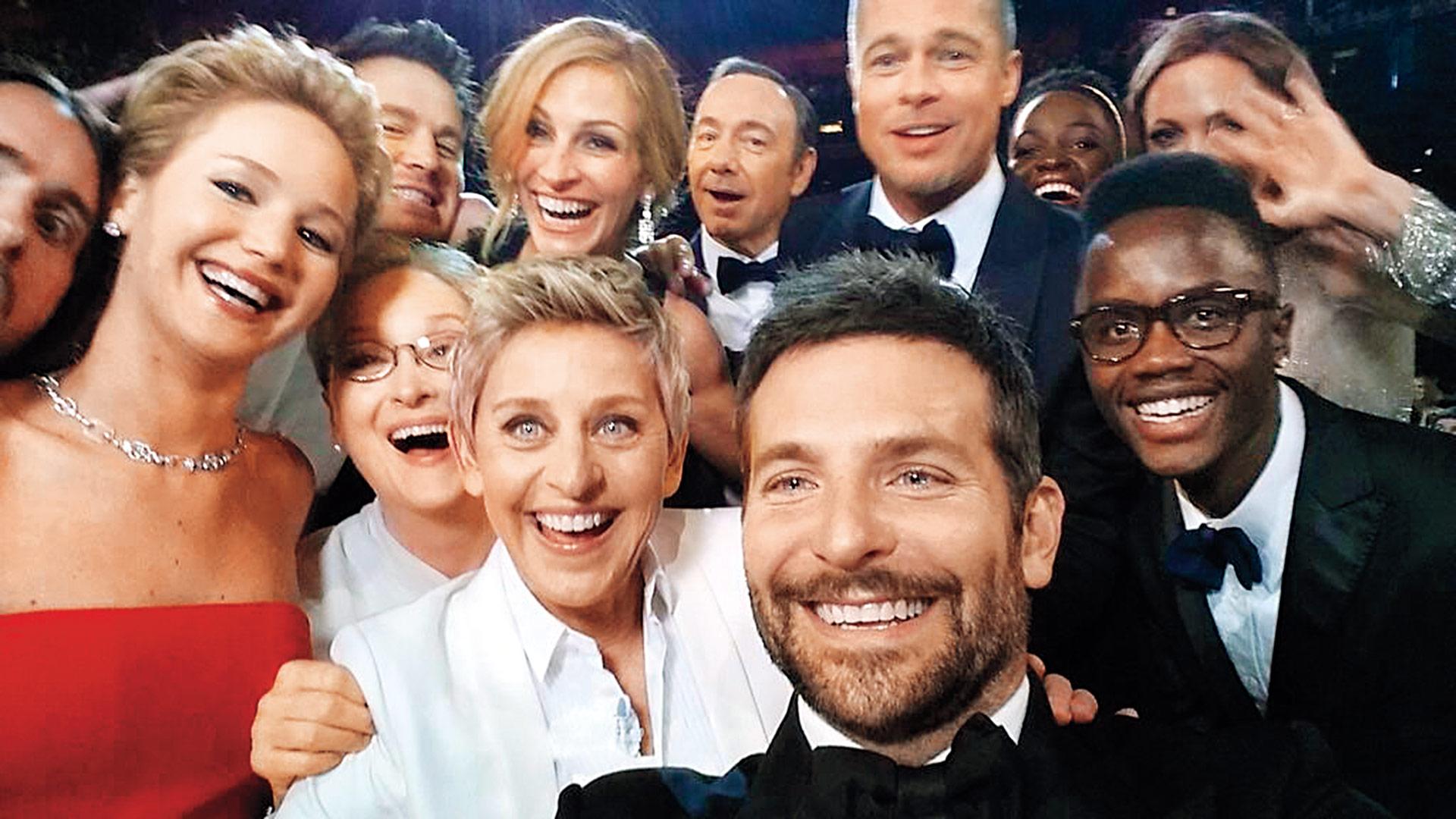 time 100 influential photos ellen degeneres oscars selfie 100