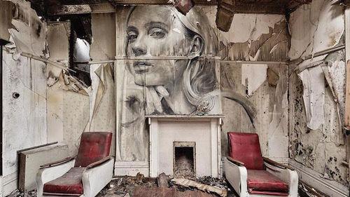 Street art με μπόλικο άρωμα γυναίκας
