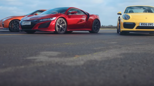 Ποιος έχει ποιον; Honda NSX vs Nissan GT-R vs Porsche 911 Turbo