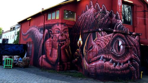 Ο «Κόκκινος Δράκος» του γκραφιτά WD μας αφήνει με το στόμα ανοικτό