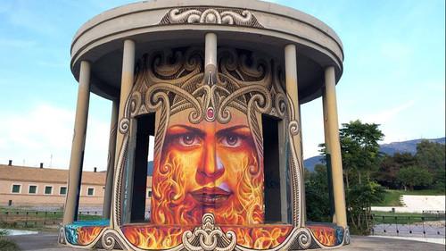 O WD χτύπησε γκράφιτι ξανά, στο Γουδή αυτή τη φορά