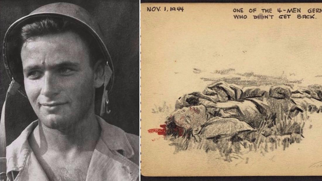 Στρατιώτης του Β' Π.Π. καταγράφει σε σκίτσα την καθημερινότητα στο μέτωπο