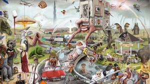 Ο πίνακας που χώρεσε 170 αναφορές από έργα του Στίβεν Κινγκ