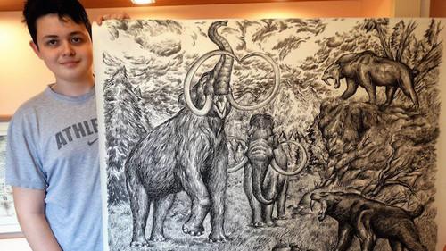 15χρονος αποστηθίζει εικόνες με ζώα, τις ζωγραφίζει, μας σκαλώνει άσχημα