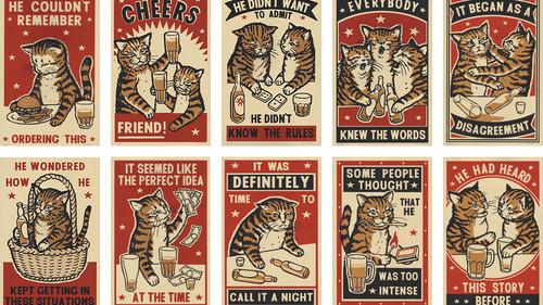 Ποτέ ξανά οι γάτες δεν ήταν τόσο αστείες όσο σε αυτό το artwork